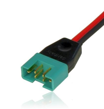 Hochstrom-Stecker mit Kabel 1,0mm² 40cm