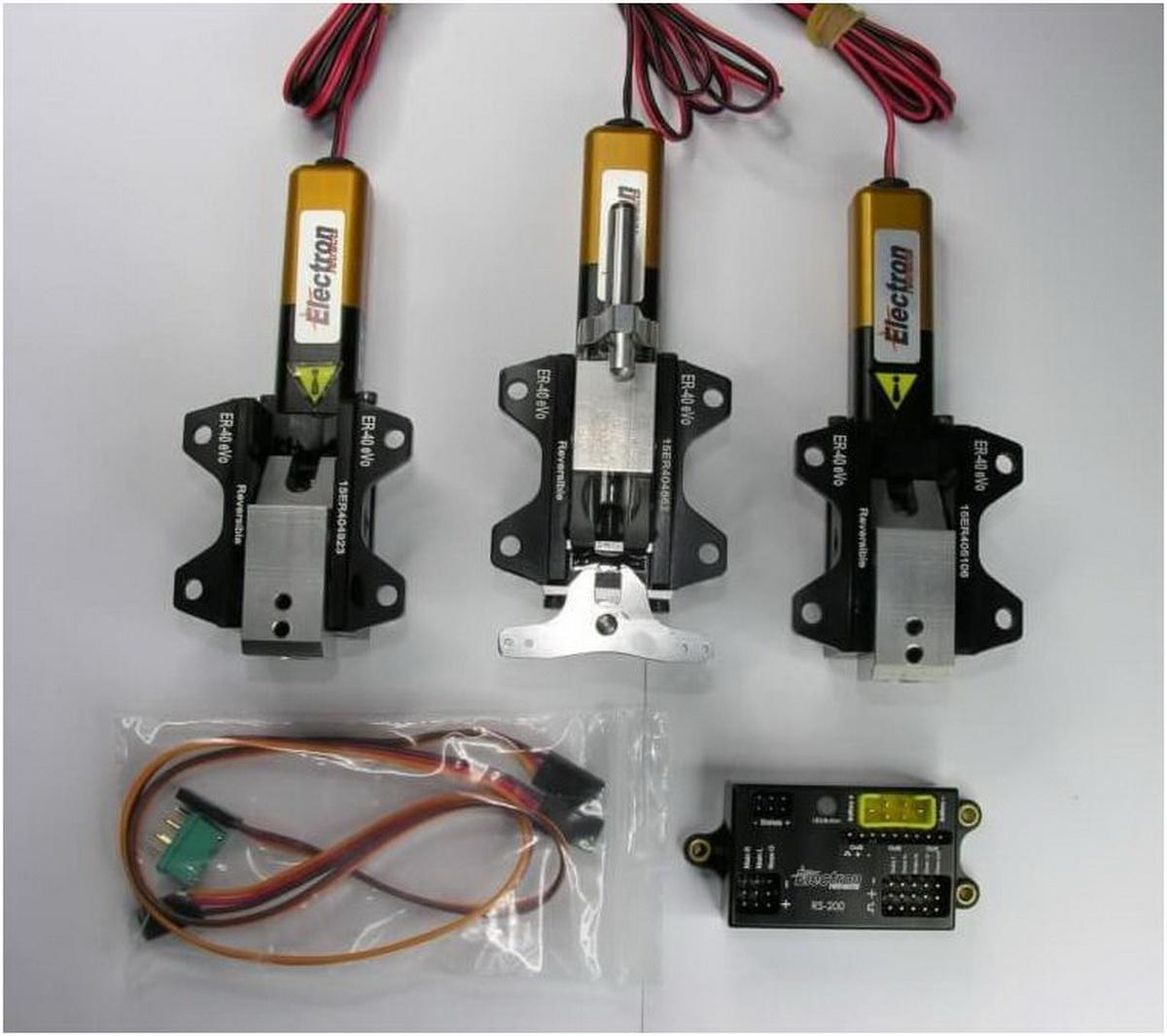 Einziehfahrwerk ER-40 eVo 3-Bein Elektronik RS-200