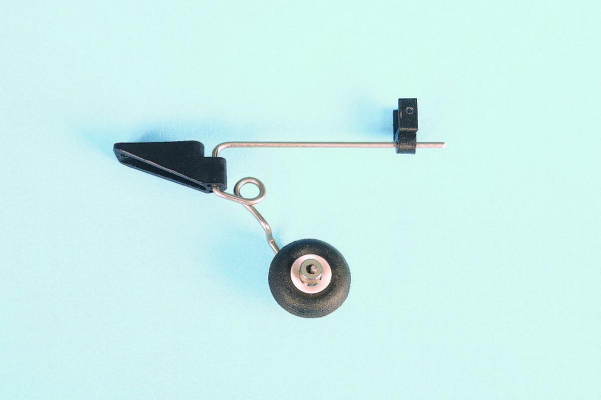 Lenkbarer Sporn mit Rad 25 mm