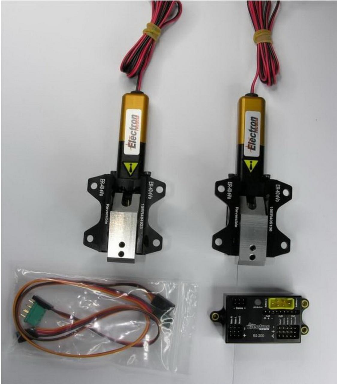 Einziehfahrwerk ER-40 eVo 2-Bein Elektronik RS-200