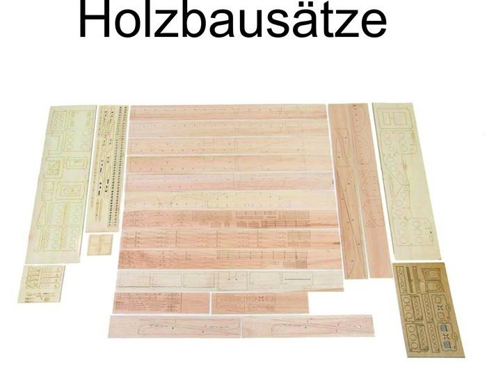 Holzbausätze-Retro-Modelle