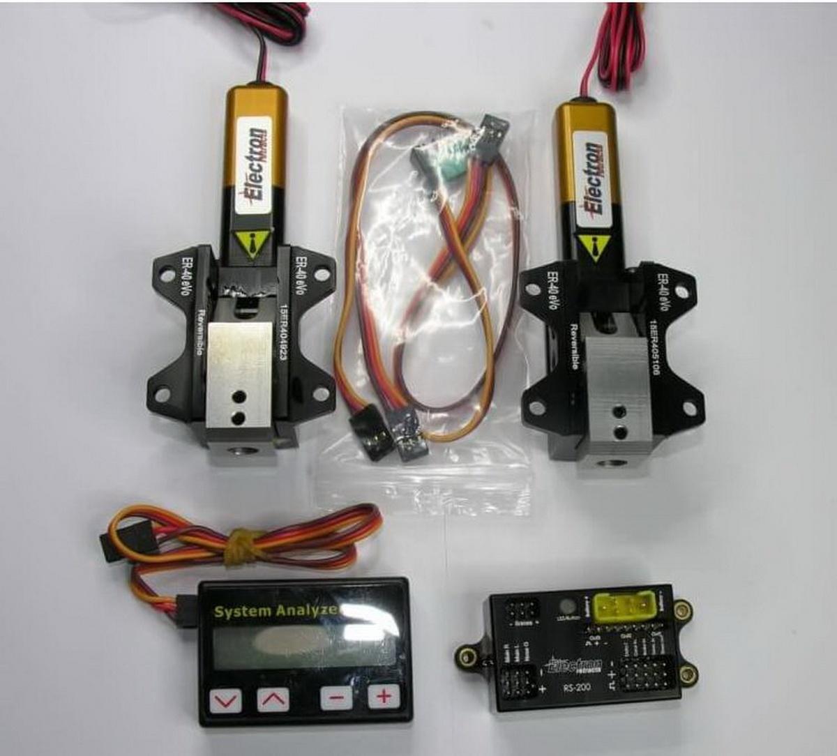 Einziehfahrwerk ER-40 eVo 2-Bein Elektronik RS-200 plus