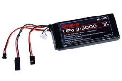 Senderakku flach LiPo 3/3000 11,1V TX