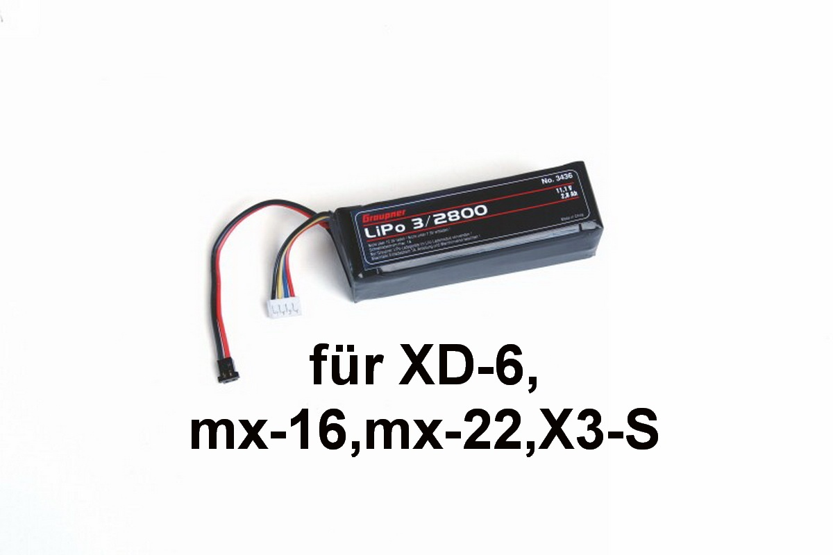 Senderakku quad. LiPo 3/2800 11,1V TX