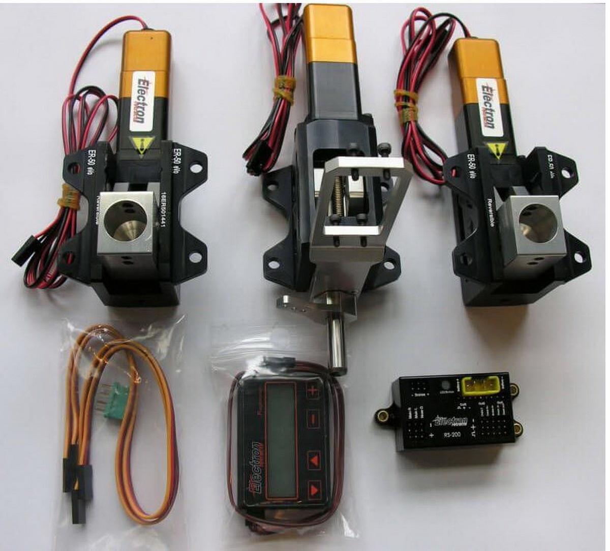 Einziehfahrwerk ER-50 eVo 3-Bein Elektronik RS-200 plus