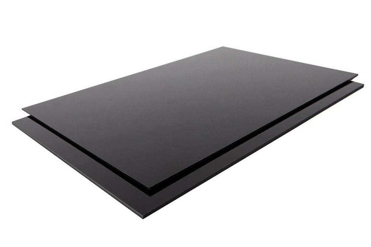 ABS/Polystyrol schwarz  1,0x350x500mm