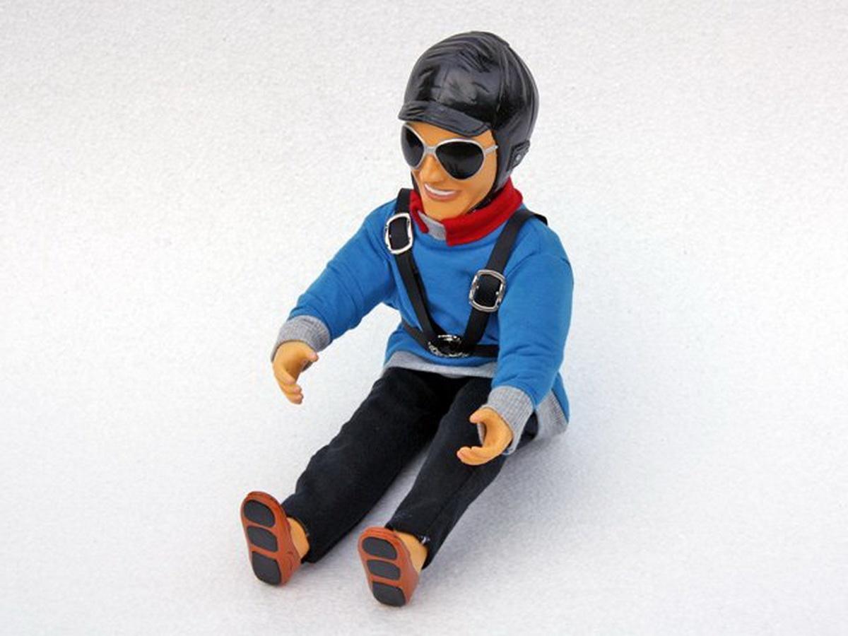 Pilotenpuppe Ben (blau)