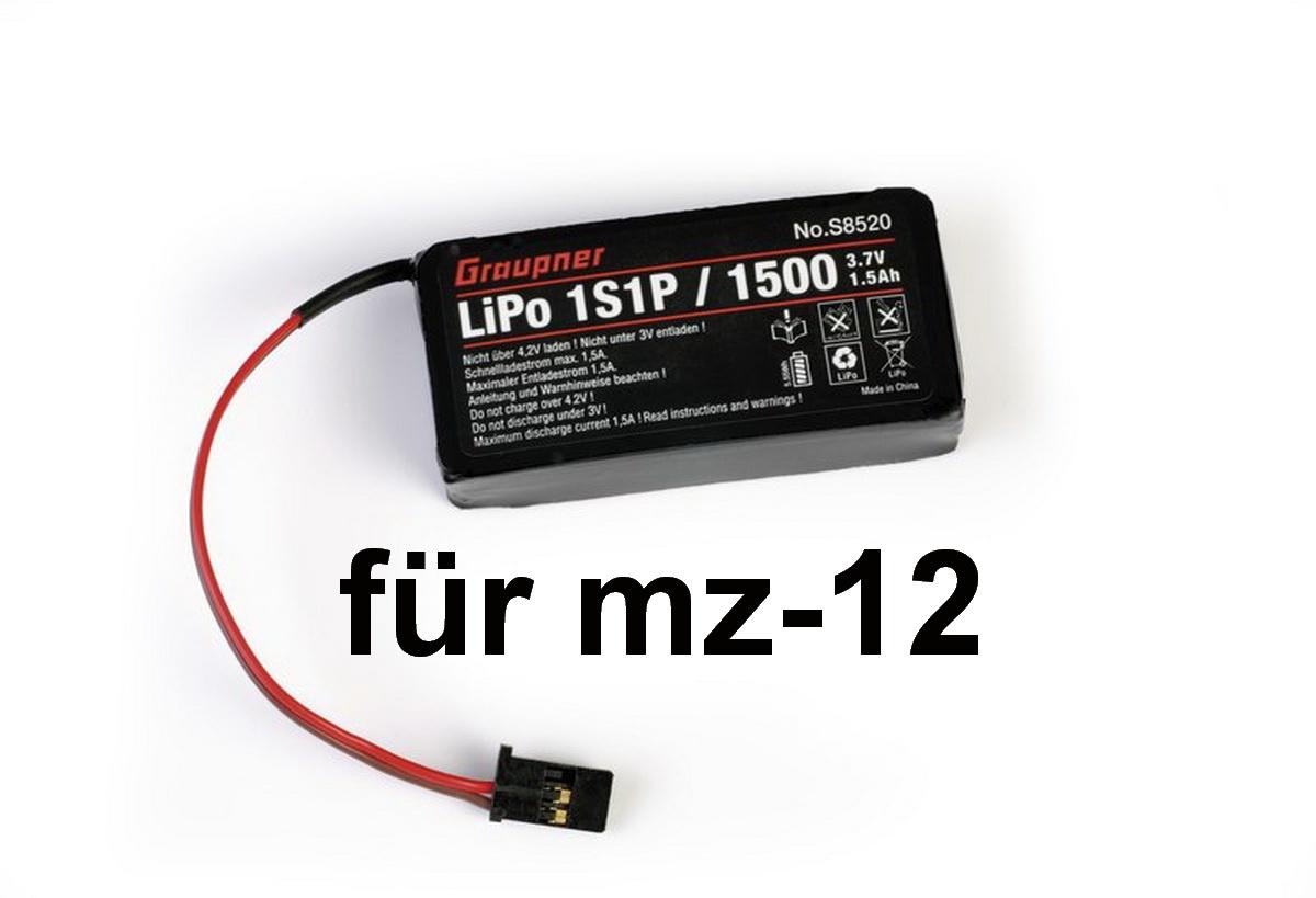 Senderakku LiPo 1S/1500 3,7V für mz-12 P