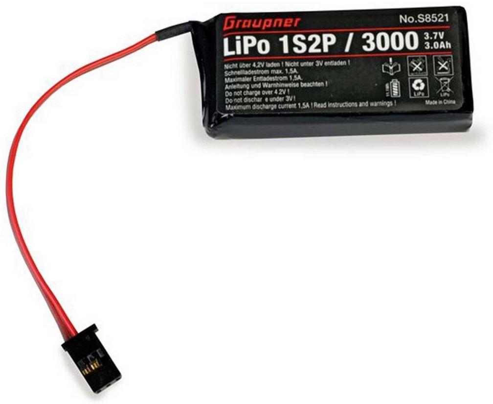 Senderakku LiPo 1S2P/3000 3,7V für mz-12
