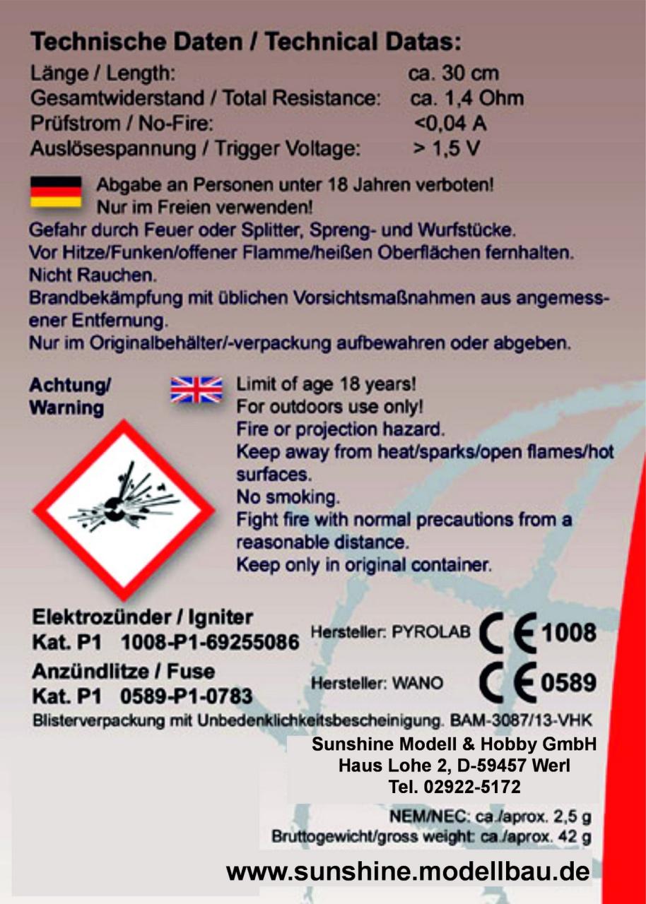 Elektroanzünder für AX-60