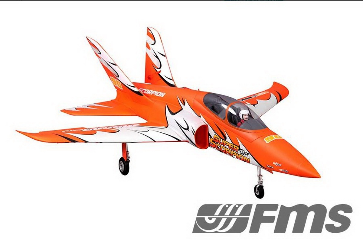 FMS Super Scorpion Jet EDF 90 PNP - 114 cm Orange