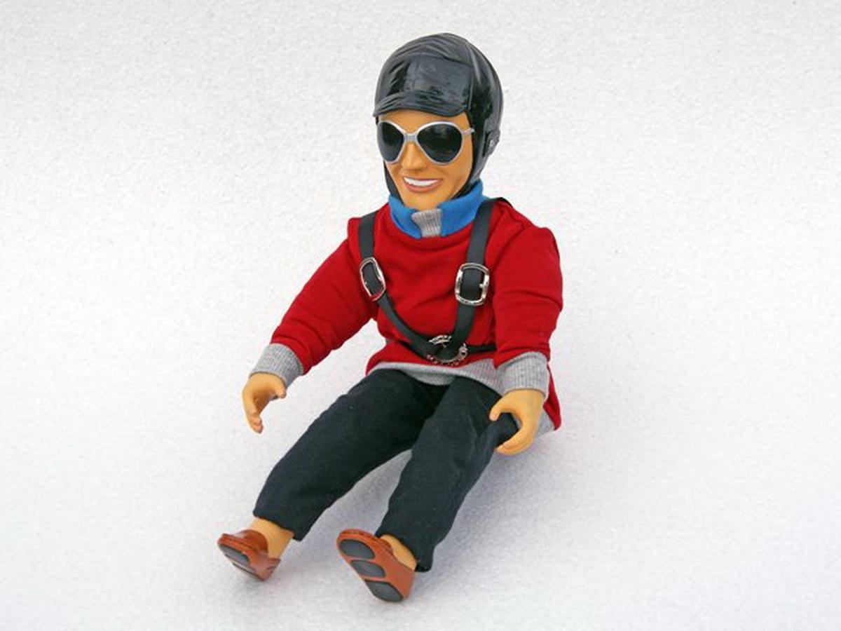 Pilotenpuppe Ben (rot)