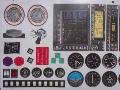 Klebebogen Cockpit Instrumente A
